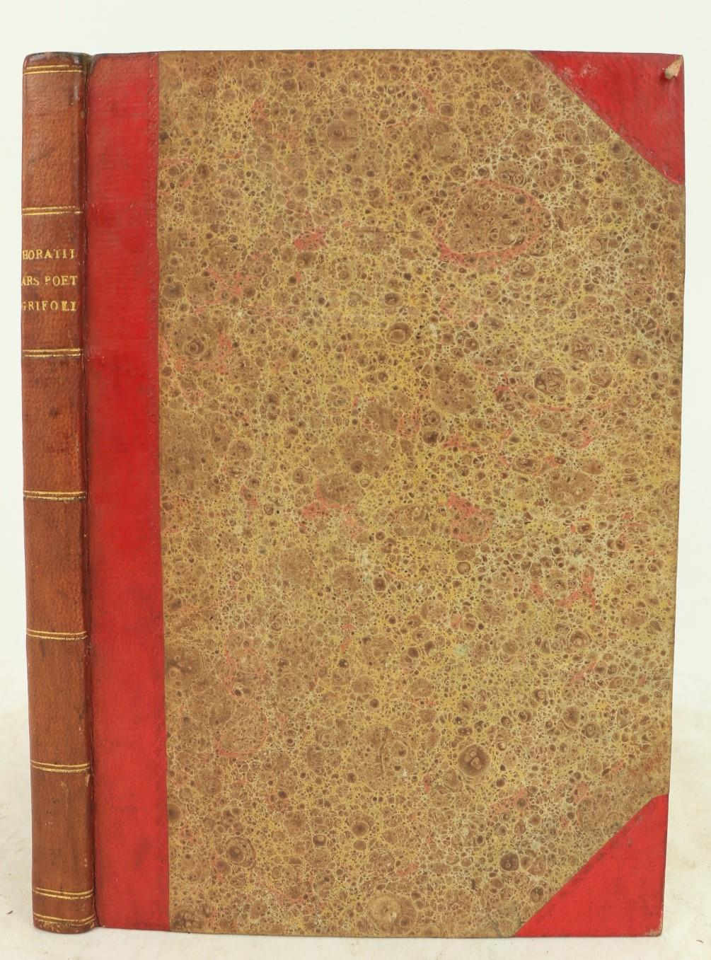 Horace -ÿÿQ Horatii Flacci Liber de Arte poetica Jacobi GTrifoli Lucinianesis interpretatione
