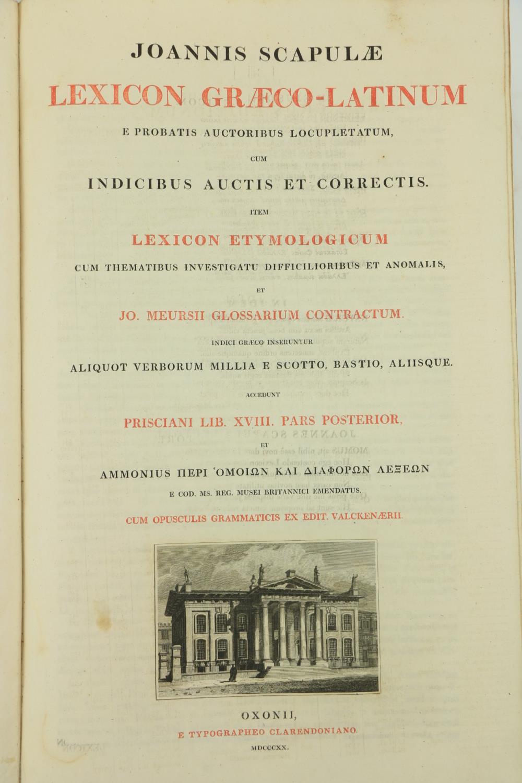 Scapulae (Joannis)ÿLexicon Graeco - Latinum,.... et Jo. Meursii glossarium Contractum... Cum