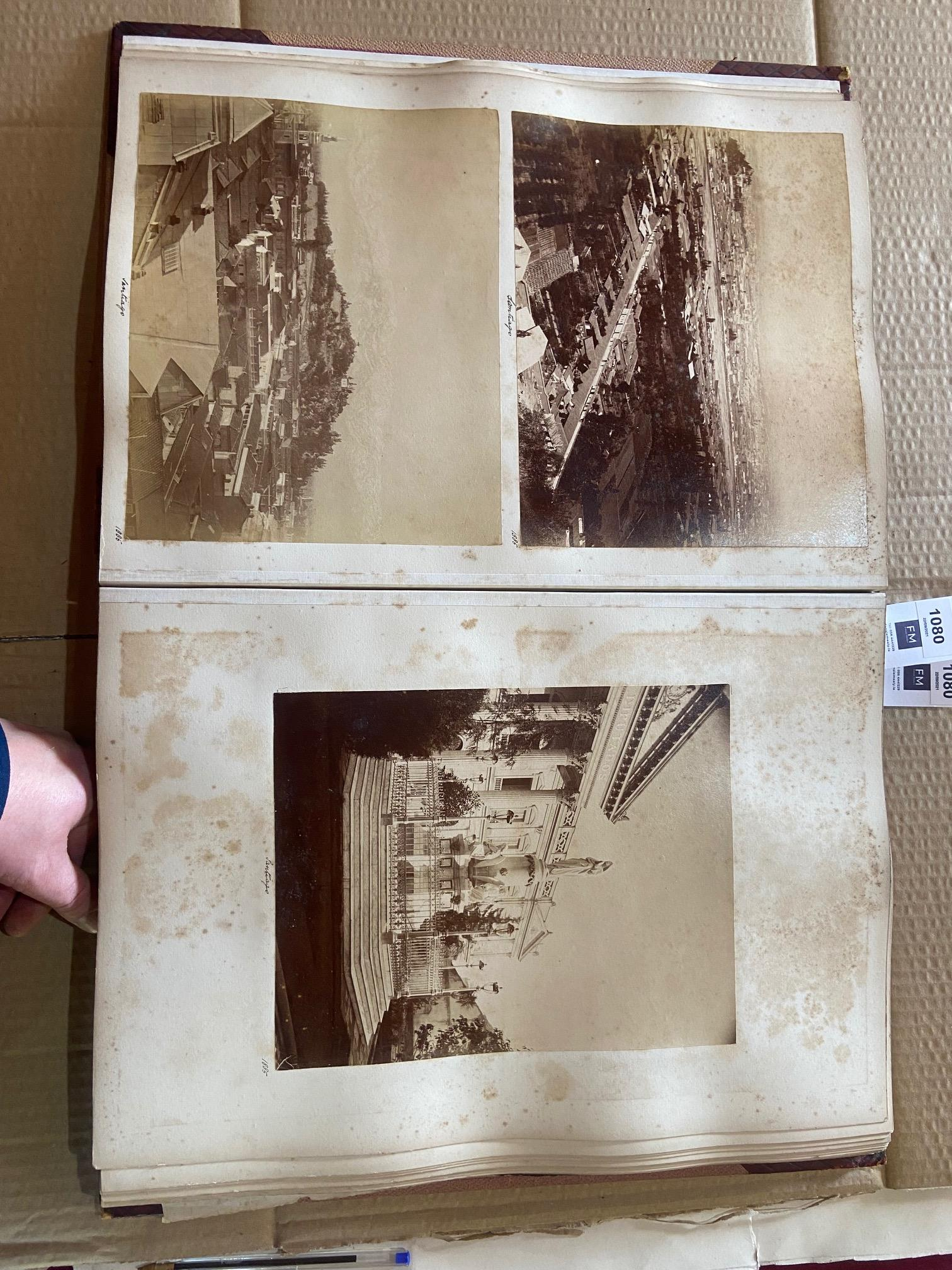 Photographs: Two large folio Albums of Photographs, each c. 1870 - 1890's. One Album contains - Image 21 of 31
