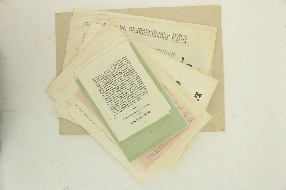 The Roman Republic of 1848 - 1849 Ephemera:An important collectionÿof 18 leaflets or broadsides, - Image 2 of 4