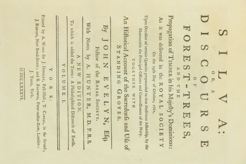 Evelyn (John)ÿSilva: or A Discourse of Forest-Trees, 2 vols. lg. sq. folio York (A. Ward.) 1786.ÿNew - Image 2 of 2
