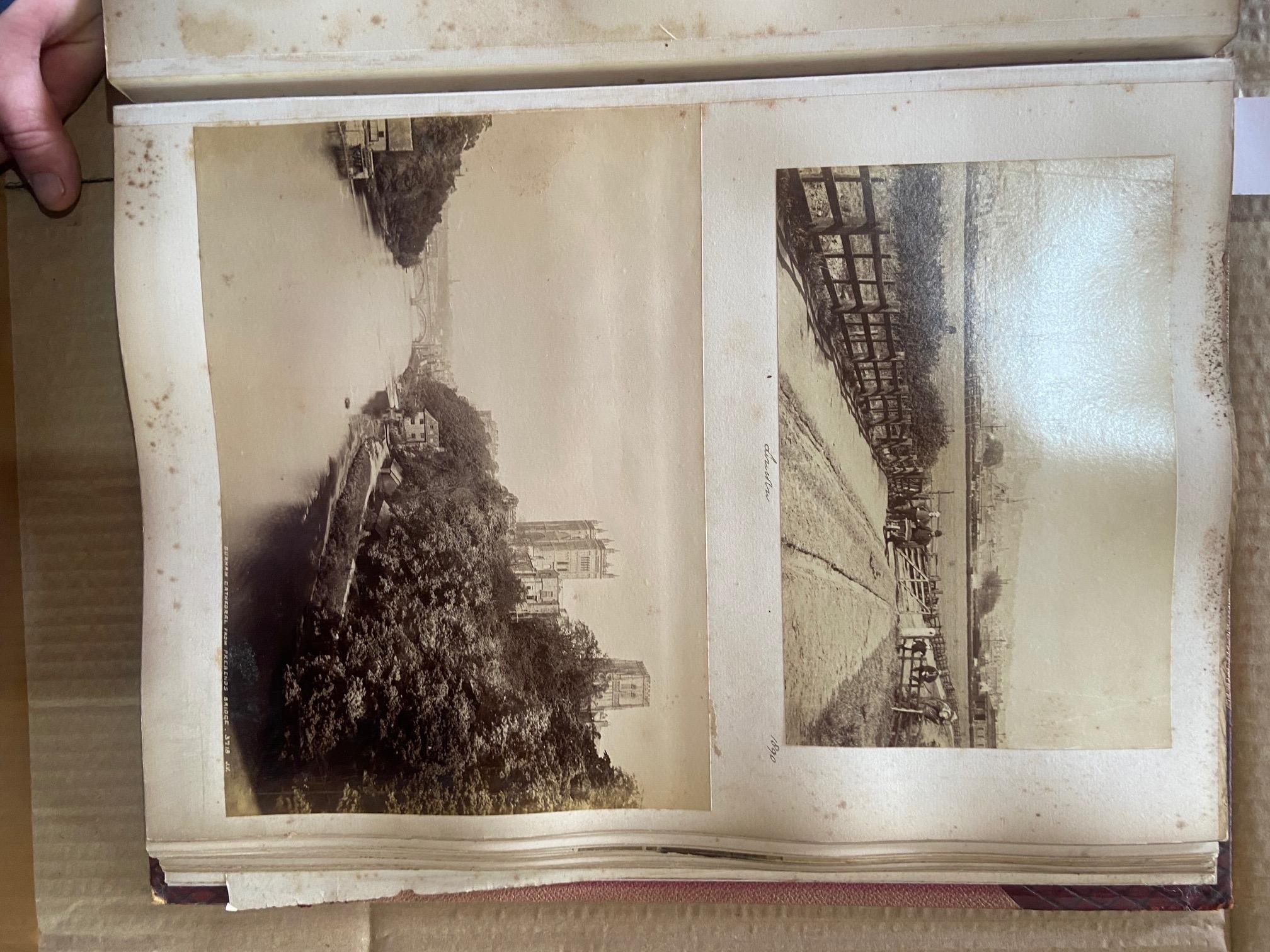Photographs: Two large folio Albums of Photographs, each c. 1870 - 1890's. One Album contains - Image 3 of 31