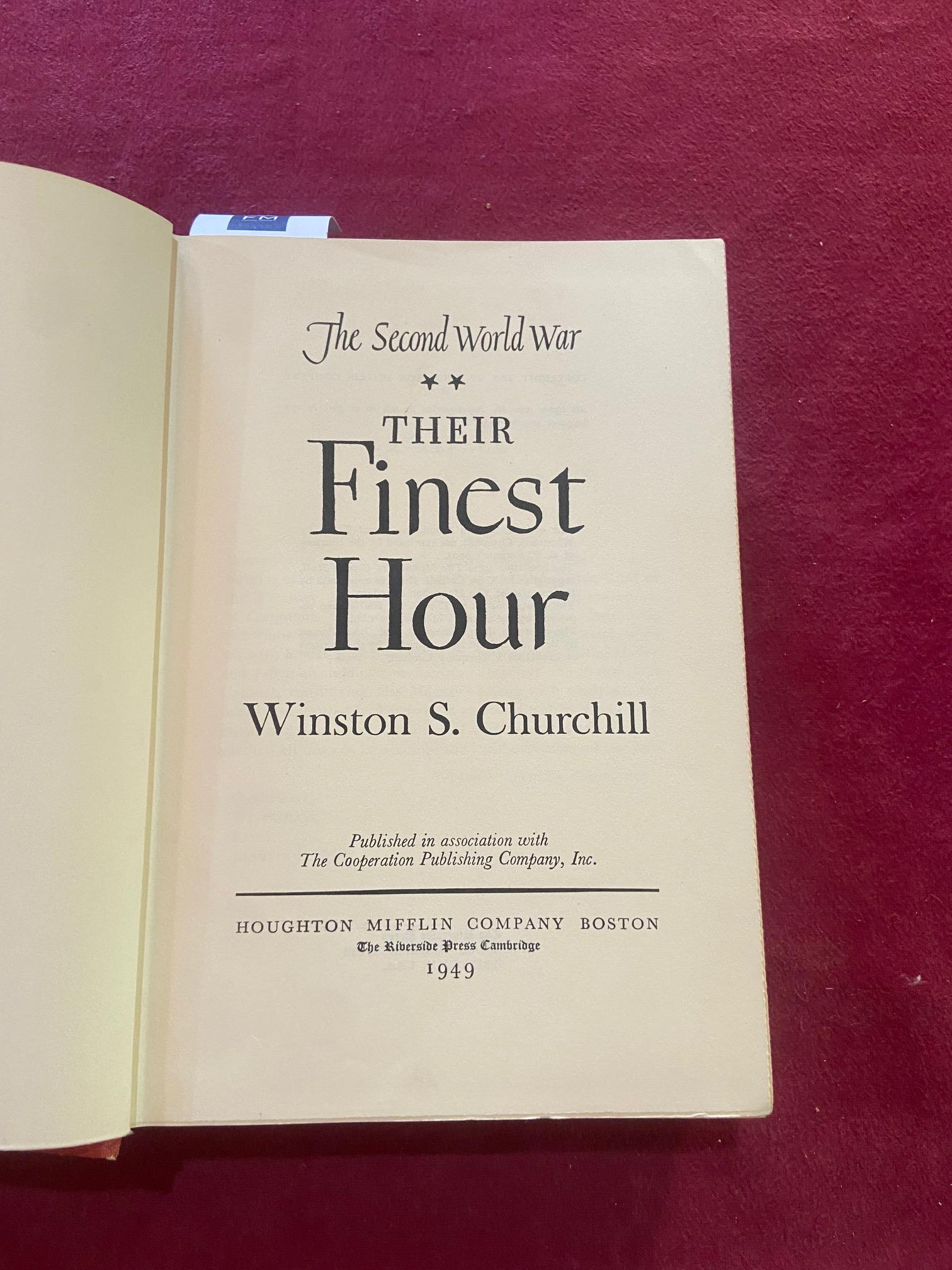 Signed by the Authorÿ Churchill (Winston S.)ÿTheir Finest Hour, Second World War, Vol. II only, - Image 17 of 22