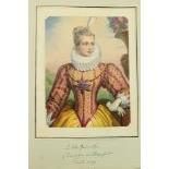 Album:ÿÿ A very good folio Album of hand coloured and engraved litho and other Prints, approx. 58