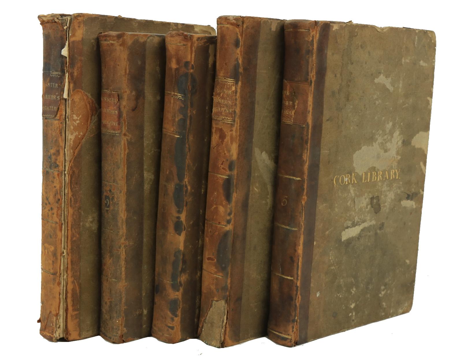 Rare Co. Cork Periodical Periodical: Cork Institution:The Munster Farmer's Magazine, Vols. 1 - 5.