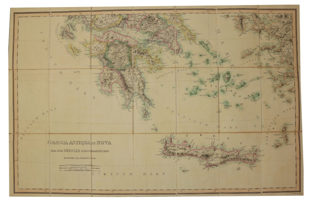 Maps: Cramer (J.A.) & Parker (Joseph) PublisherGraecia Antiqua et Nova una cum Insulis