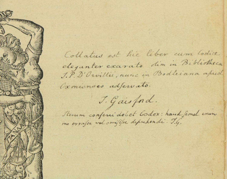 Sextus -Sexti Empirici Opera Graece et latine: Pyrrhoniarum Institutionum Libri III, Cum Henr. - Image 3 of 3
