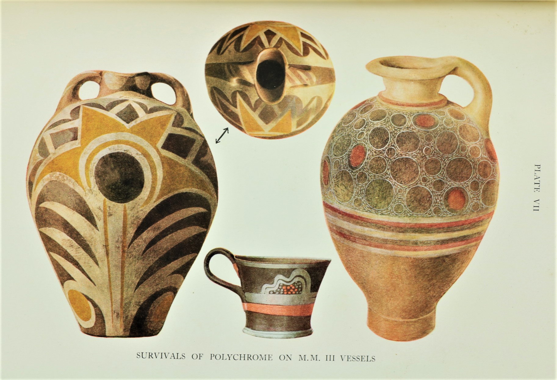 Evans (Sir Arthur)ÿThe Palaceÿof Minos,... at Knossos, Vols. 1 - 3, in 4 vols., 4to L. 1921 - 1930. - Image 4 of 4