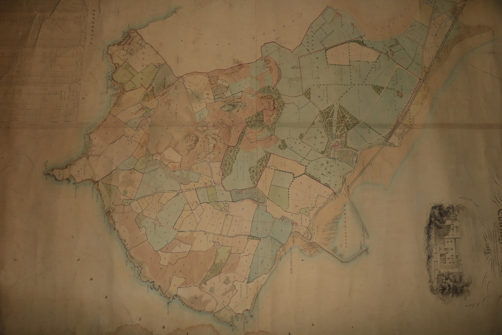 Irish Map: Map of the Howth Estate of the Right Honorable the Earl of Howth, situate in the - Image 3 of 4