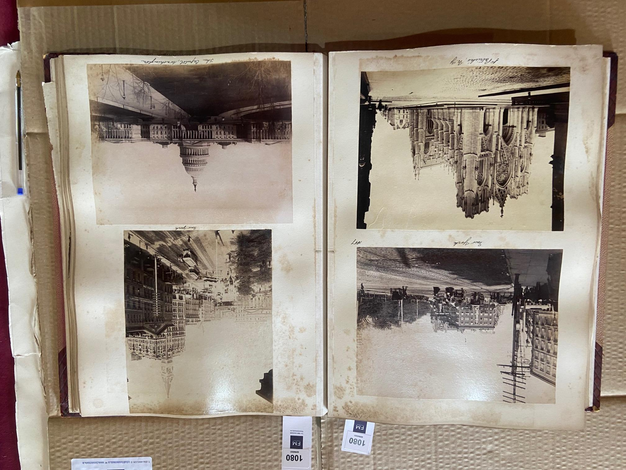 Photographs: Two large folio Albums of Photographs, each c. 1870 - 1890's. One Album contains - Image 5 of 31
