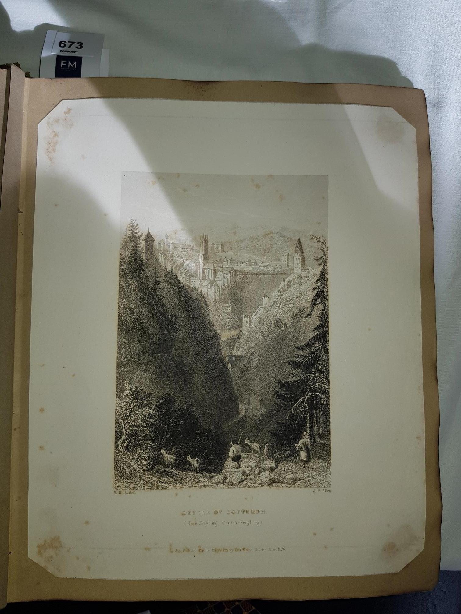 Scrap Albums: Two early 19th Century Albums, of engd. and litho views, of Continental and English - Image 4 of 4