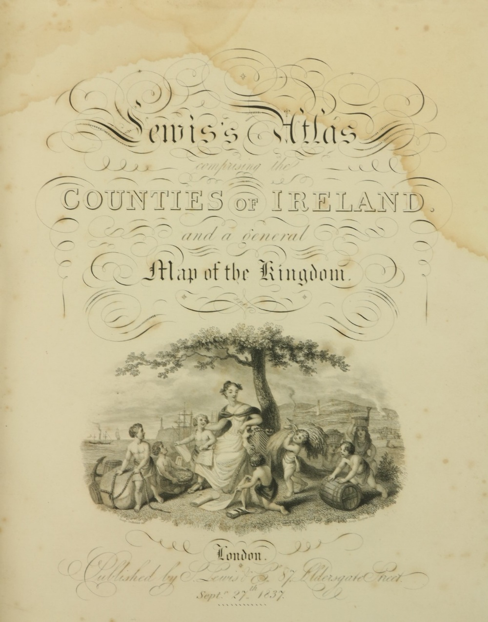 Lewis (Samuel)Atlas Comprising the Counties of Ireland, and A General Map of the Kingdom, lg. 4to