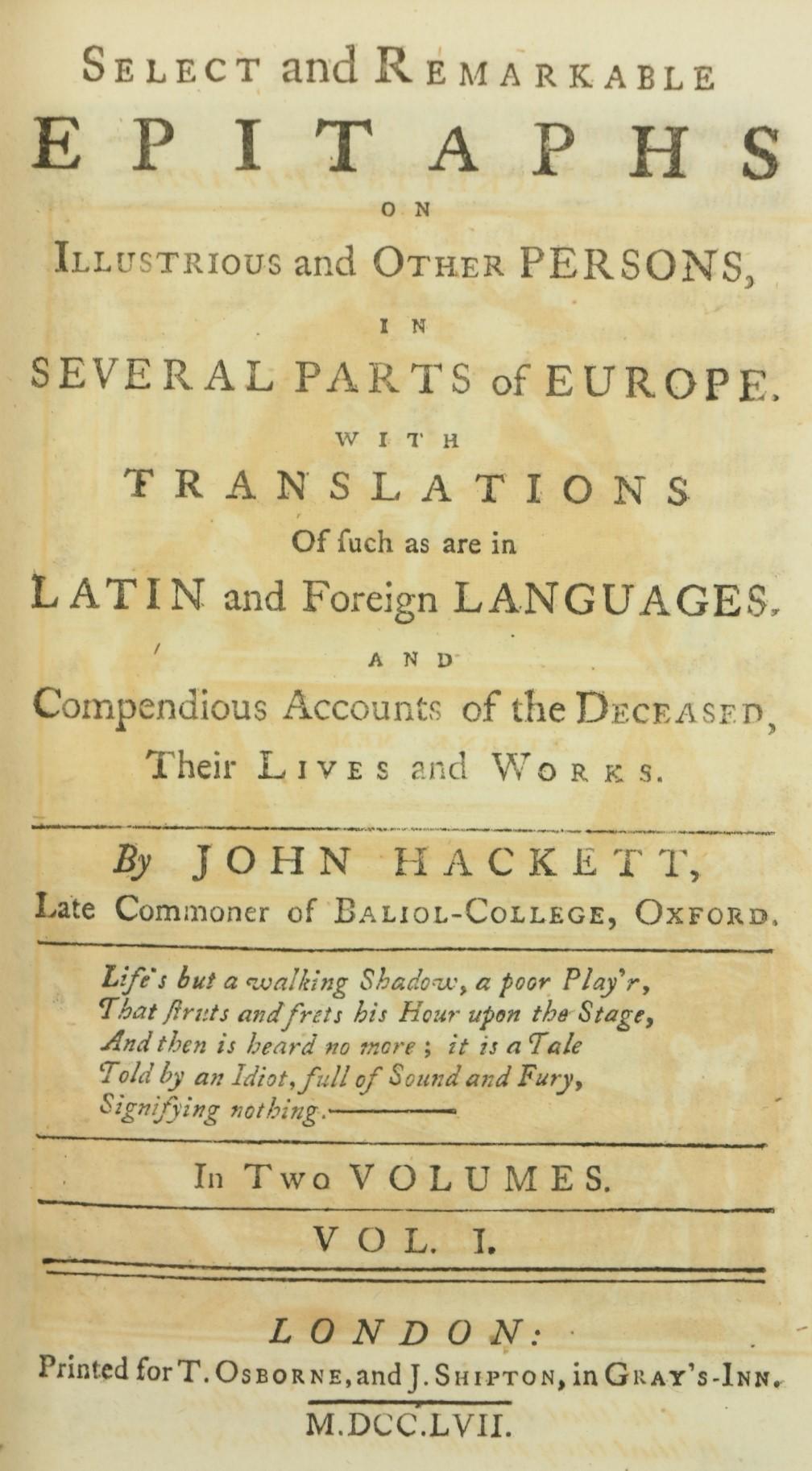 [Brydges (Thos.)]ÿA Burlesque Translationÿof Homer, 2 vols. 12mo L. 1770.ÿThird Edn.,ÿ2 engd. - Image 3 of 4