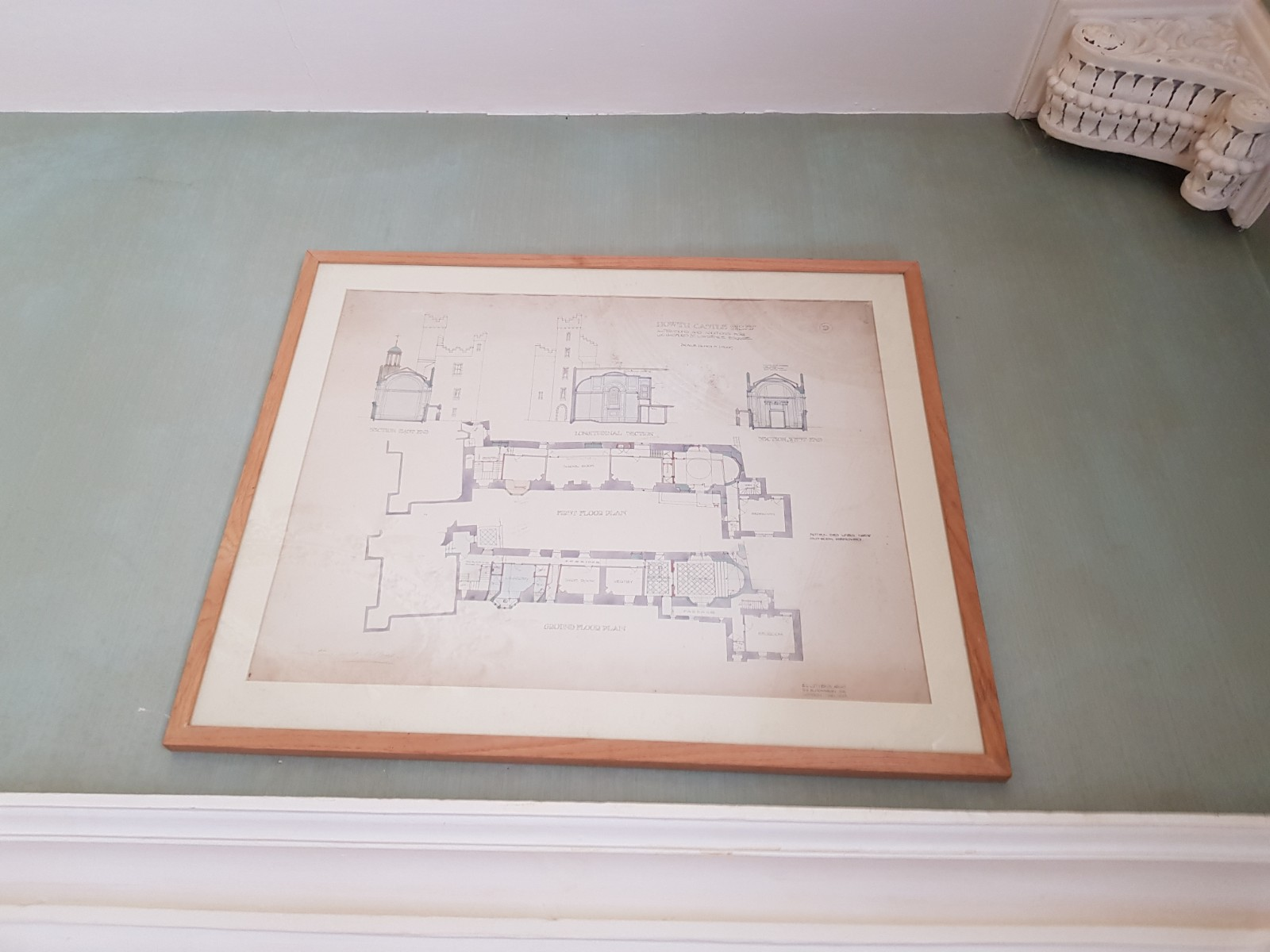 Sir Edward L. Lutyens 1869 - 1944 Howth Castle Plans: A Series of 10 Prototype Architect Drawings - Image 3 of 6