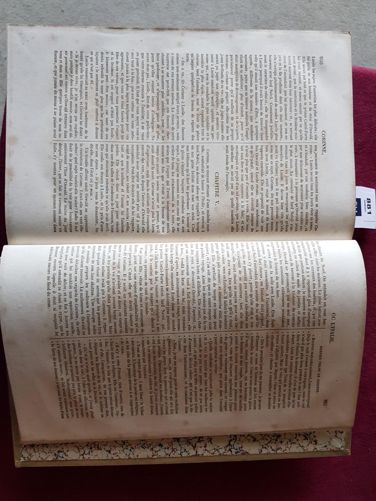 De Stael (Madame)ÿOeuvres Completes de Madame la Baronne de Stael-Holstein, 2 vols. folio Paris ( - Image 5 of 8