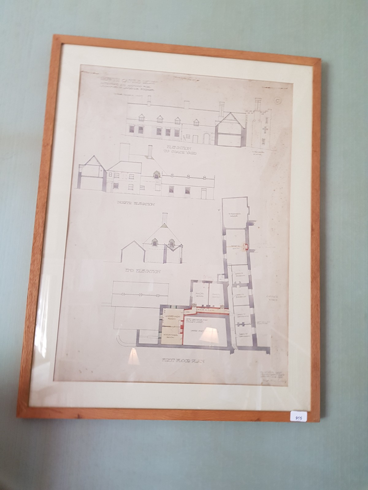 Sir Edward L. Lutyens 1869 - 1944 Howth Castle Plans: A Series of 10 Prototype Architect Drawings - Image 4 of 6