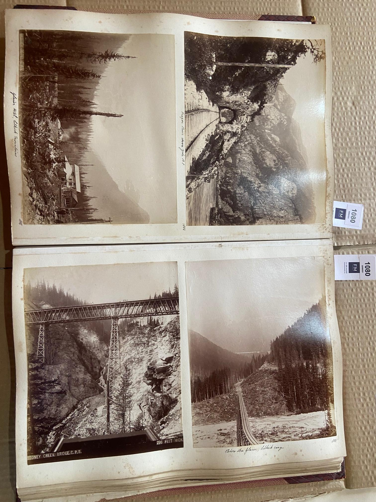Photographs: Two large folio Albums of Photographs, each c. 1870 - 1890's. One Album contains - Image 11 of 31