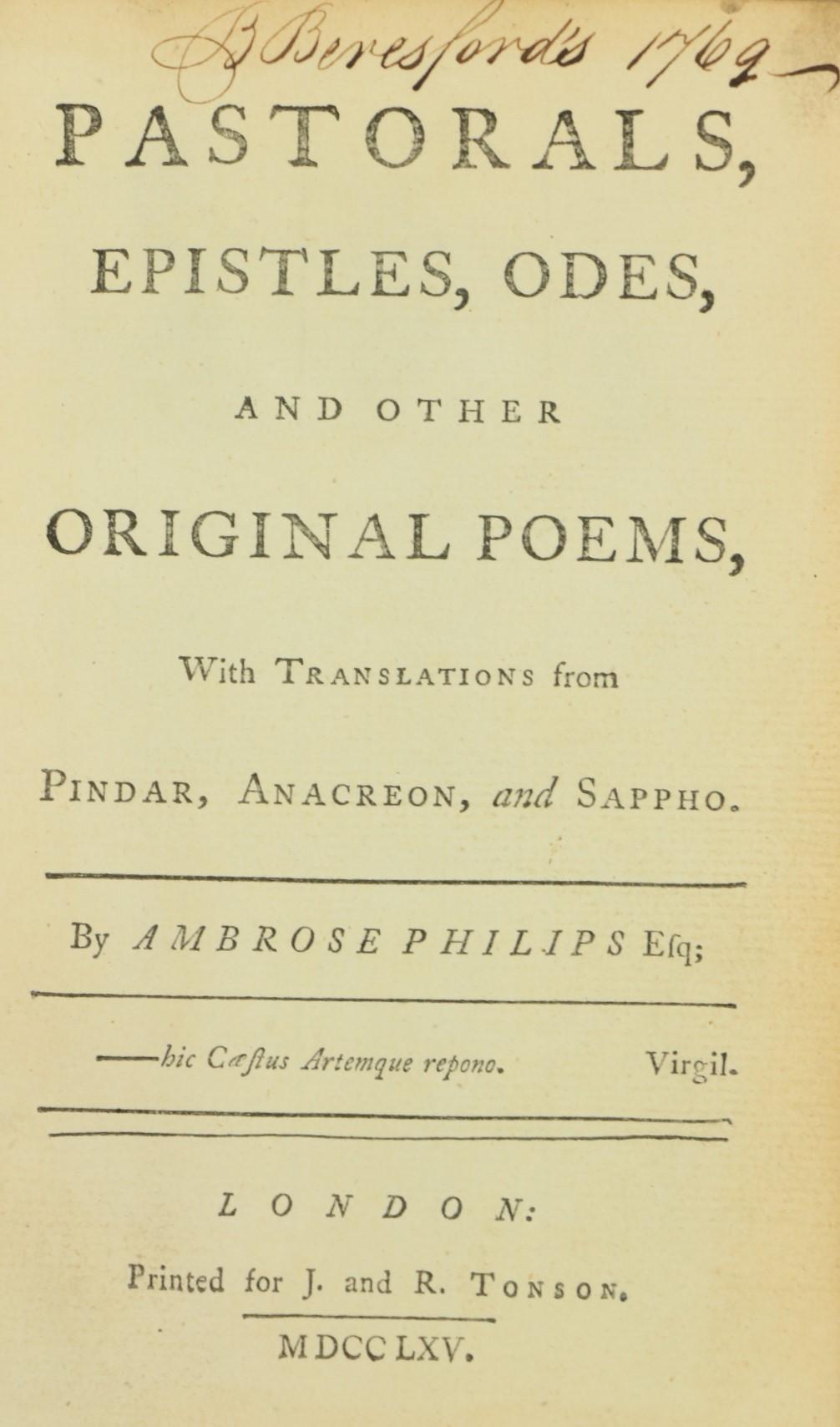 [Brydges (Thos.)]ÿA Burlesque Translationÿof Homer, 2 vols. 12mo L. 1770.ÿThird Edn.,ÿ2 engd. - Image 2 of 4