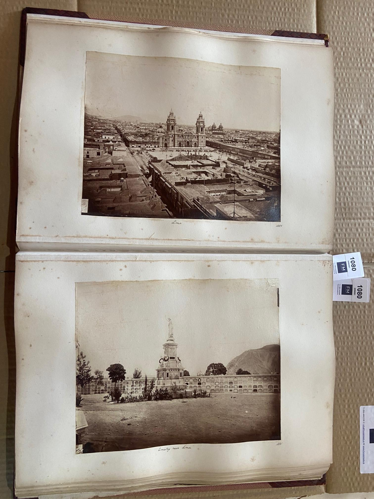 Photographs: Two large folio Albums of Photographs, each c. 1870 - 1890's. One Album contains - Image 20 of 31
