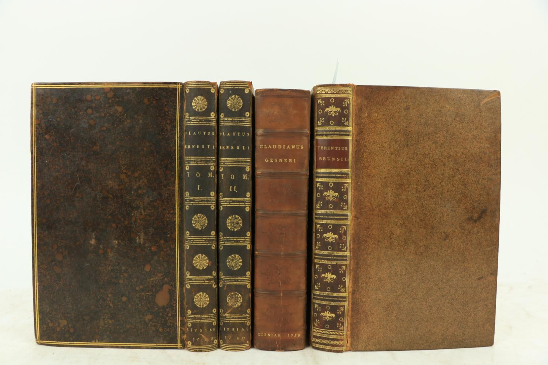 Latin Texts:ÿ Brunsius (D. Paulus Jac.)ÿP. Terentii Afri Comoediae Sex, 2 vols. in One, 8vo Halae