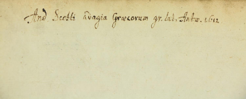 Elzevir Press: [Heinsius (Daniel) Ed.]Michaelis Apostolii Paroemiae: Nunc demun, post Epitomen - Image 2 of 2