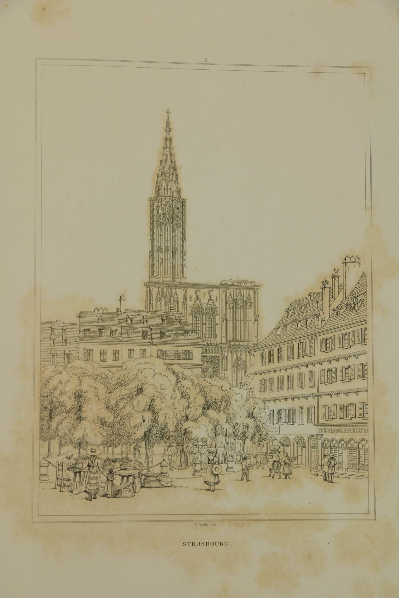Wild (Charles)ÿSelect Examples of Architectural Grandeur in Belgium, Germany and France, Lg. folio - Image 3 of 6