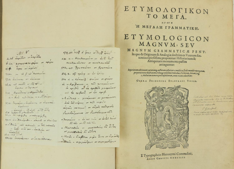 Sextus -Sexti Empirici Opera Graece et latine: Pyrrhoniarum Institutionum Libri III, Cum Henr. - Image 2 of 3