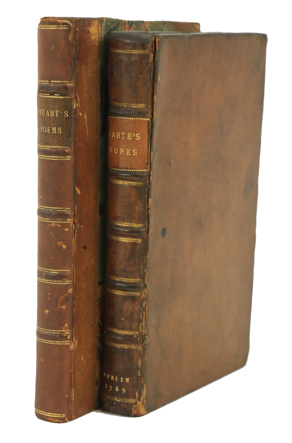 Irish Poetry:ÿ Garth (Sir Sam.)ÿThe Works of ..., 12mo D. (for Thomas Ewing) 1769.ÿFirst Edn., red &