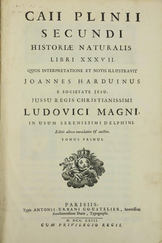 Harduinus (Joannes)ÿCaii Plinii Secundi Historiae Naturalis Libri XXXVII, 2 vols. in Two (include - Image 2 of 3