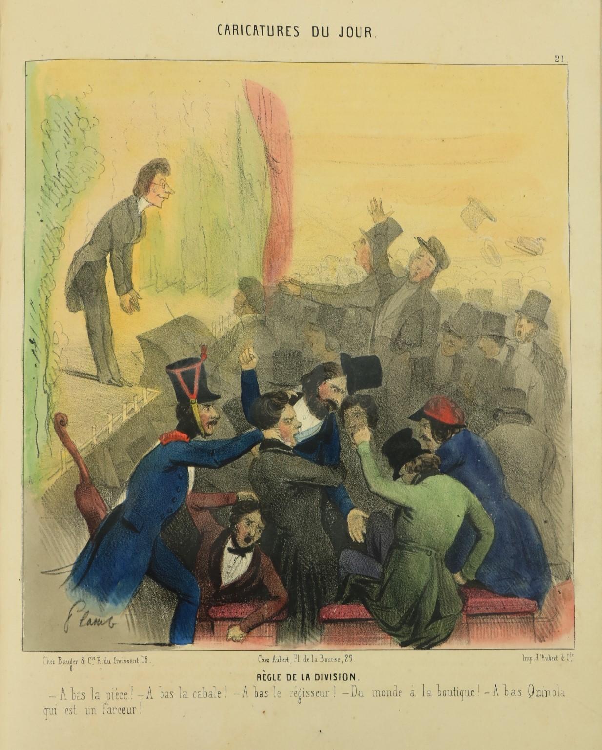 With Attractive Coloured Platesÿ Periodical:ÿÿParis Comique, Revue Amusante, lg. 4to Paris n.d.