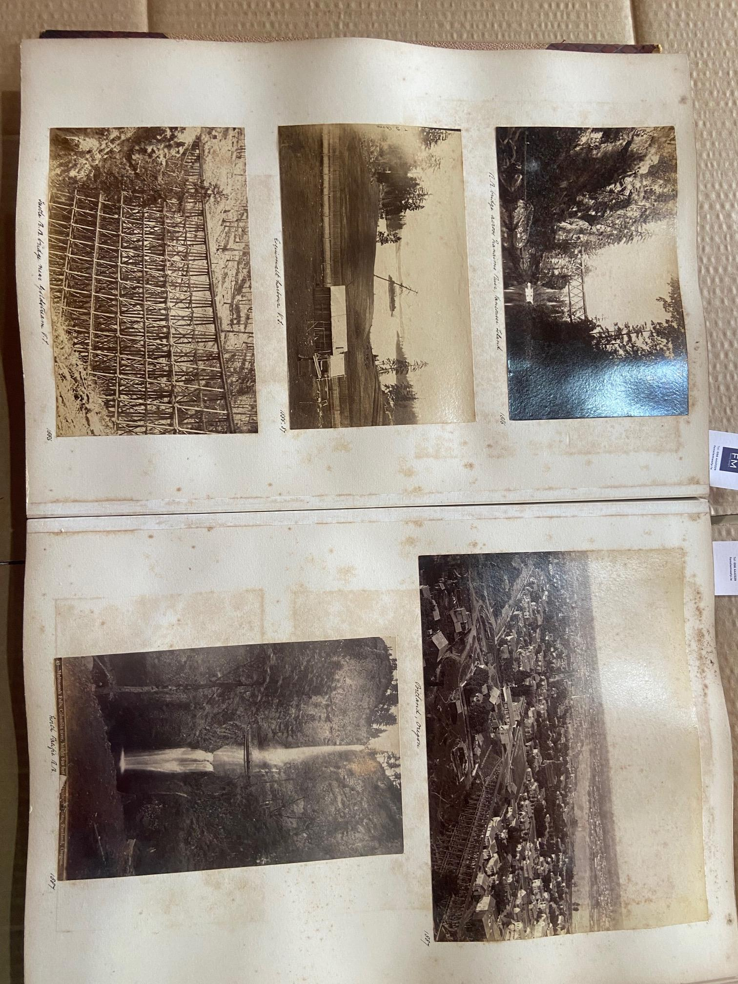 Photographs: Two large folio Albums of Photographs, each c. 1870 - 1890's. One Album contains - Image 17 of 31