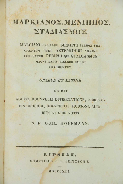 Greek Texts:ÿ Casauboni (Isaac)ÿDe Satyrica Graecorum Poesi et Romanorum Satira Libri Duo, 8vo 1774, - Image 5 of 7