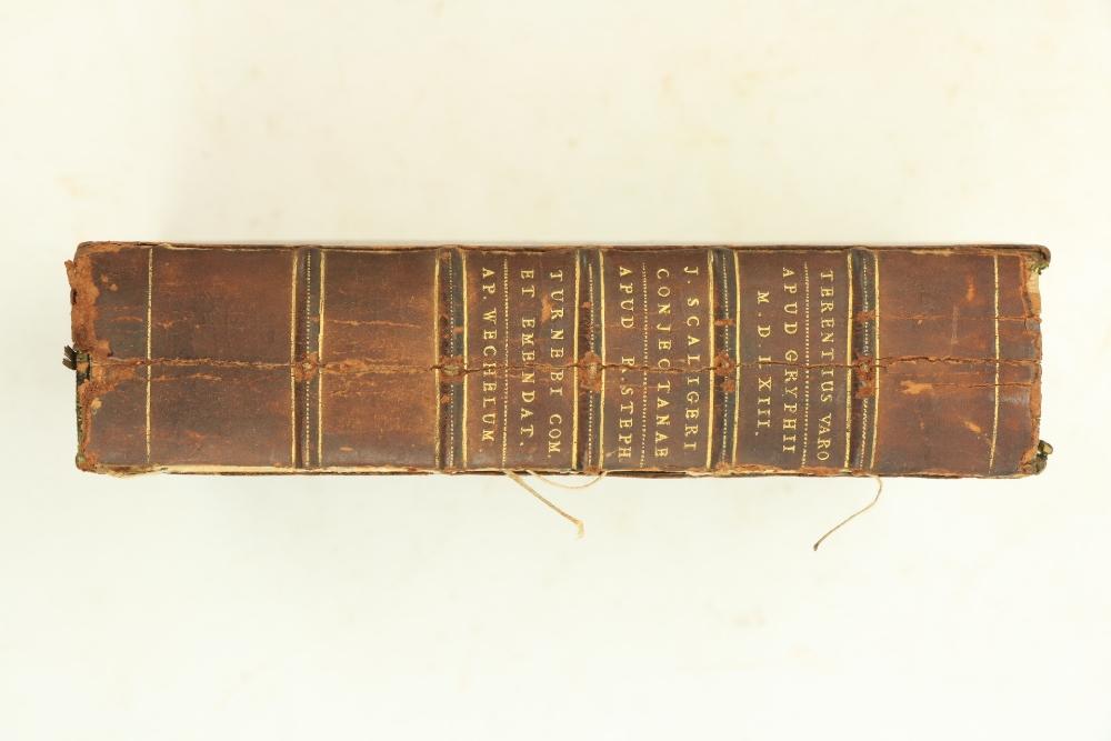 Three Works in Oneÿ Terence -ÿM. Terentii Varronis Pars Librorum Quattour et Viginiti de Lingua - Image 3 of 3