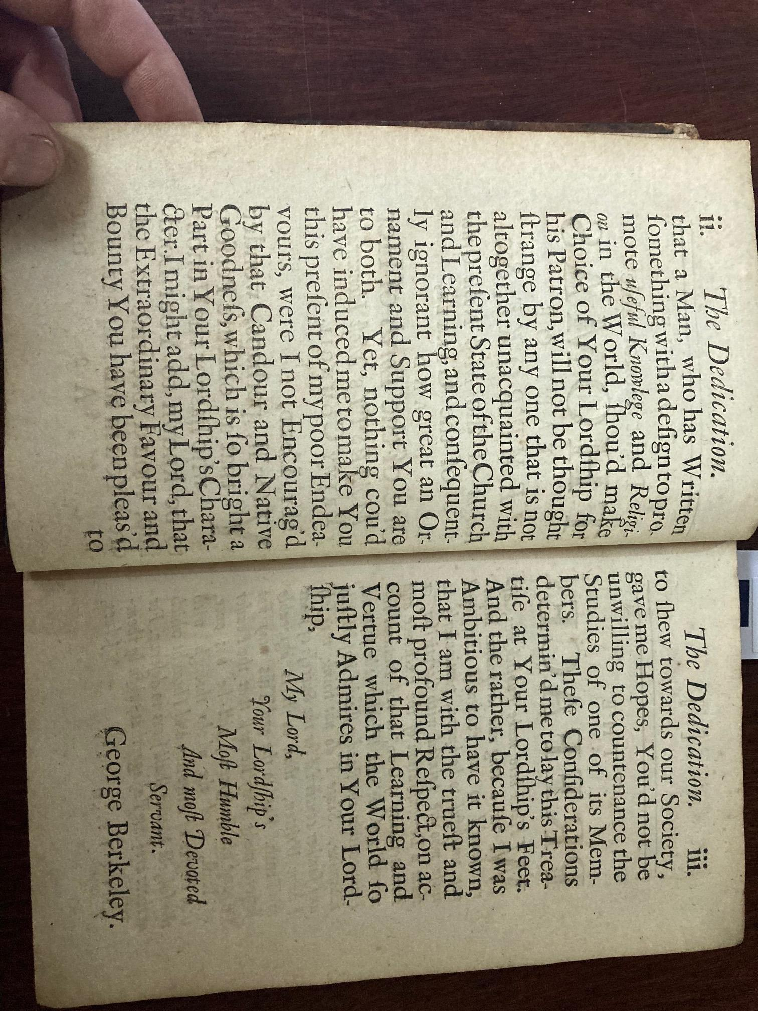The Key Book for any Berkeley Collection Berkeley (George)ÿA Treatise Concerningÿthe principles of - Image 14 of 20