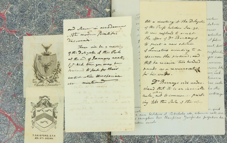 Wakefield (Gilbert)ÿÿT. Lucretii Cari de Rerum Natura Libros Sex,... et Cum Animadversionibus - Image 2 of 3