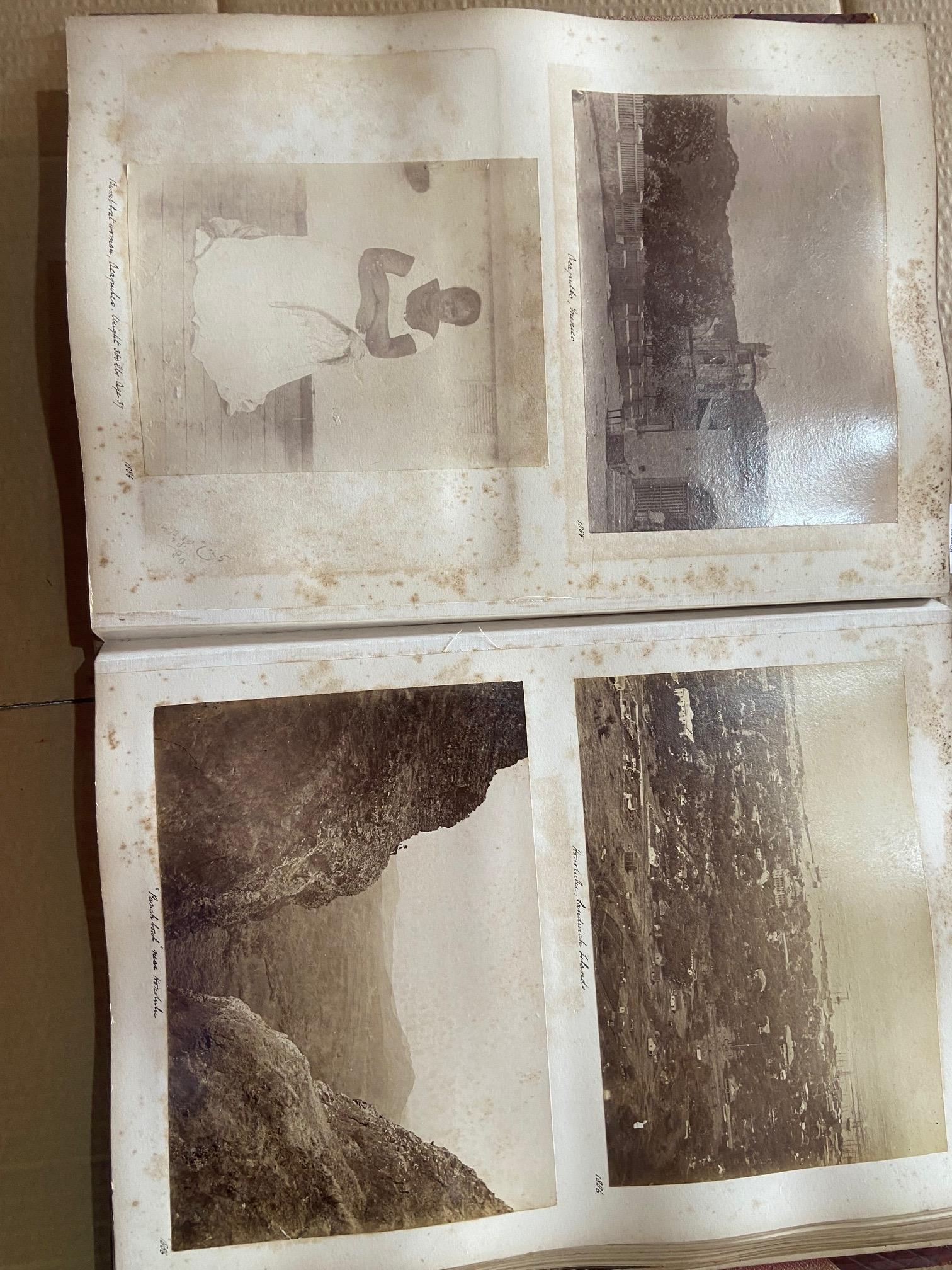 Photographs: Two large folio Albums of Photographs, each c. 1870 - 1890's. One Album contains - Image 14 of 31