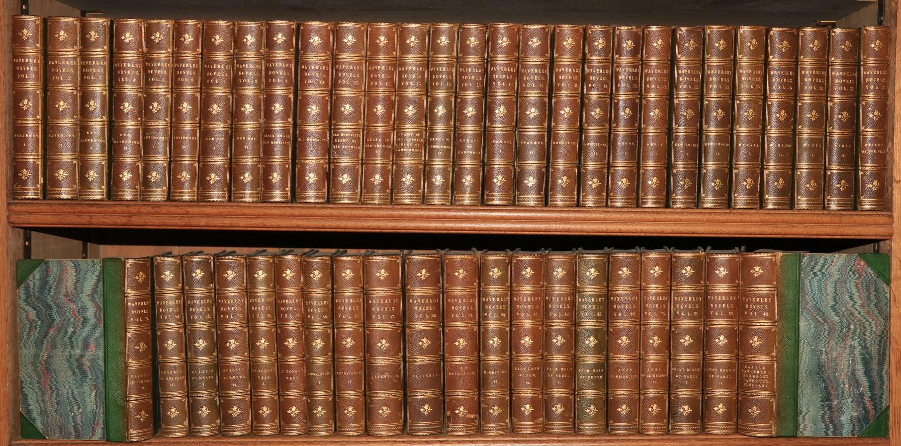 Bindings:ÿ Scott (Sir W.)ÿWaverley Novels, 48 vols. 12mo Edinburgh 1830, Engd. add. titles, - Image 4 of 5