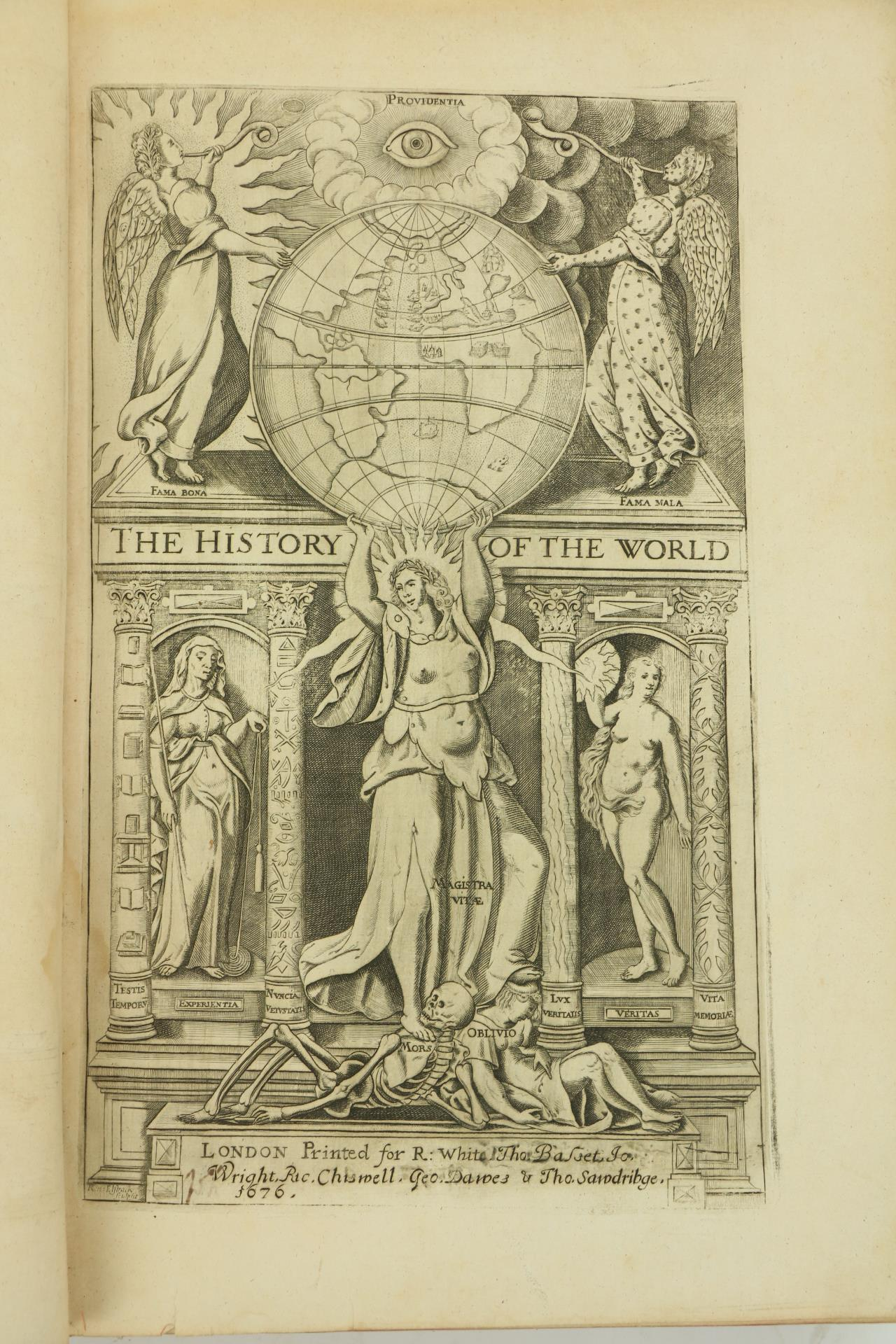 Raleighÿ(Sir Walter)ÿThe History of the World, In Five Books. Lg. folio Lond. (For Robert White,