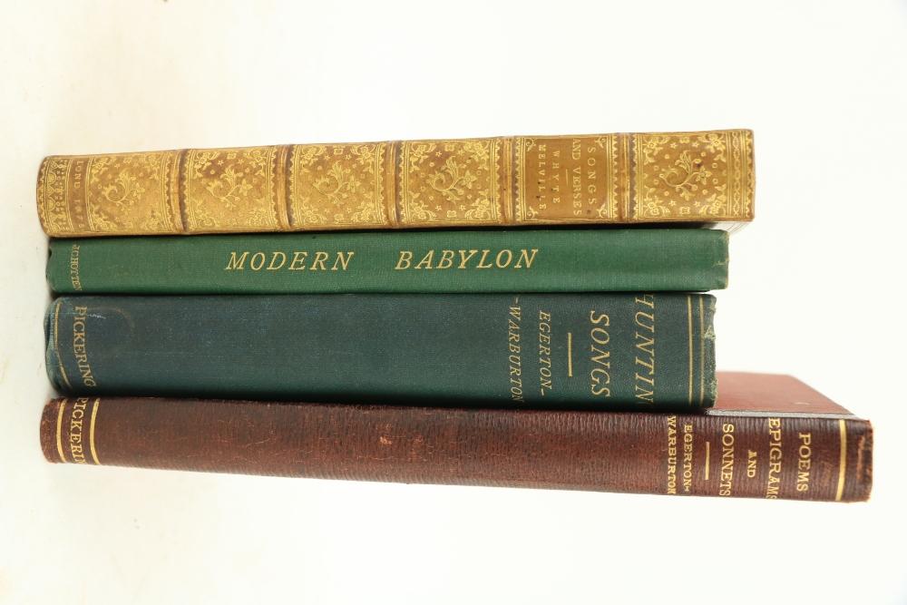 Sporting Verse etc:ÿÿ Warburton (R.E. Egerton)ÿHunting Songs, sm. 8vo Lond. (Basil Montagu