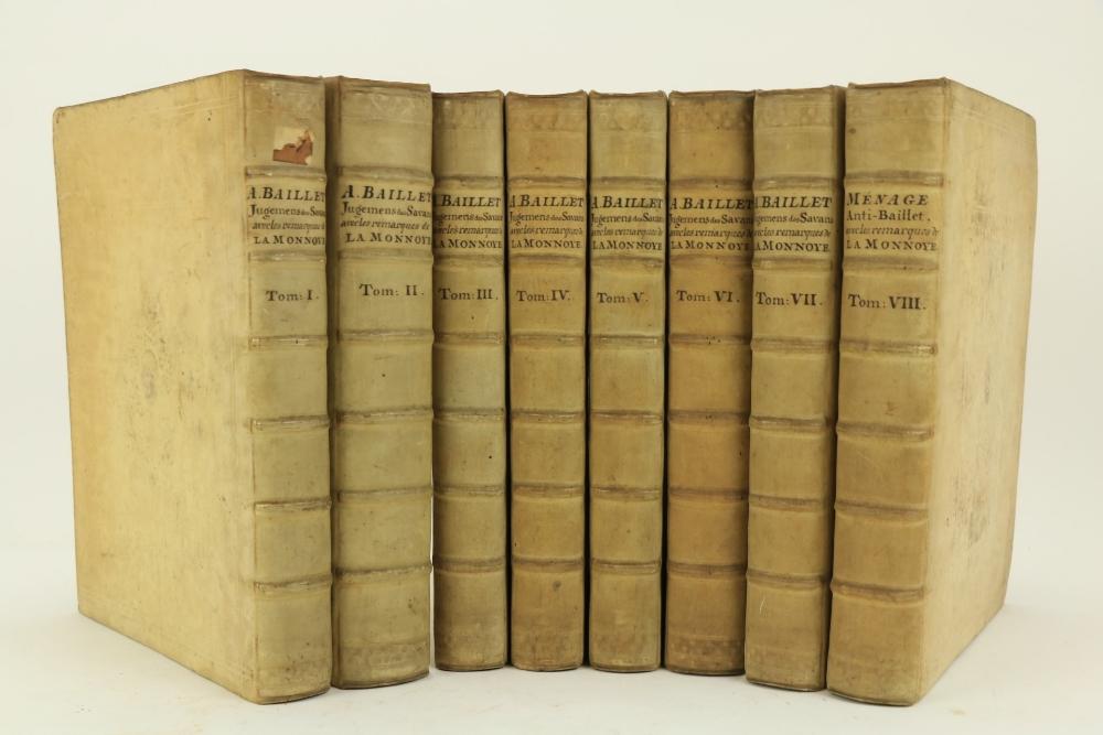 Baillet (Adrien) Jugemens des Savans sur les Principaux Ouvrages des Auteurs, Revus, Corriges &