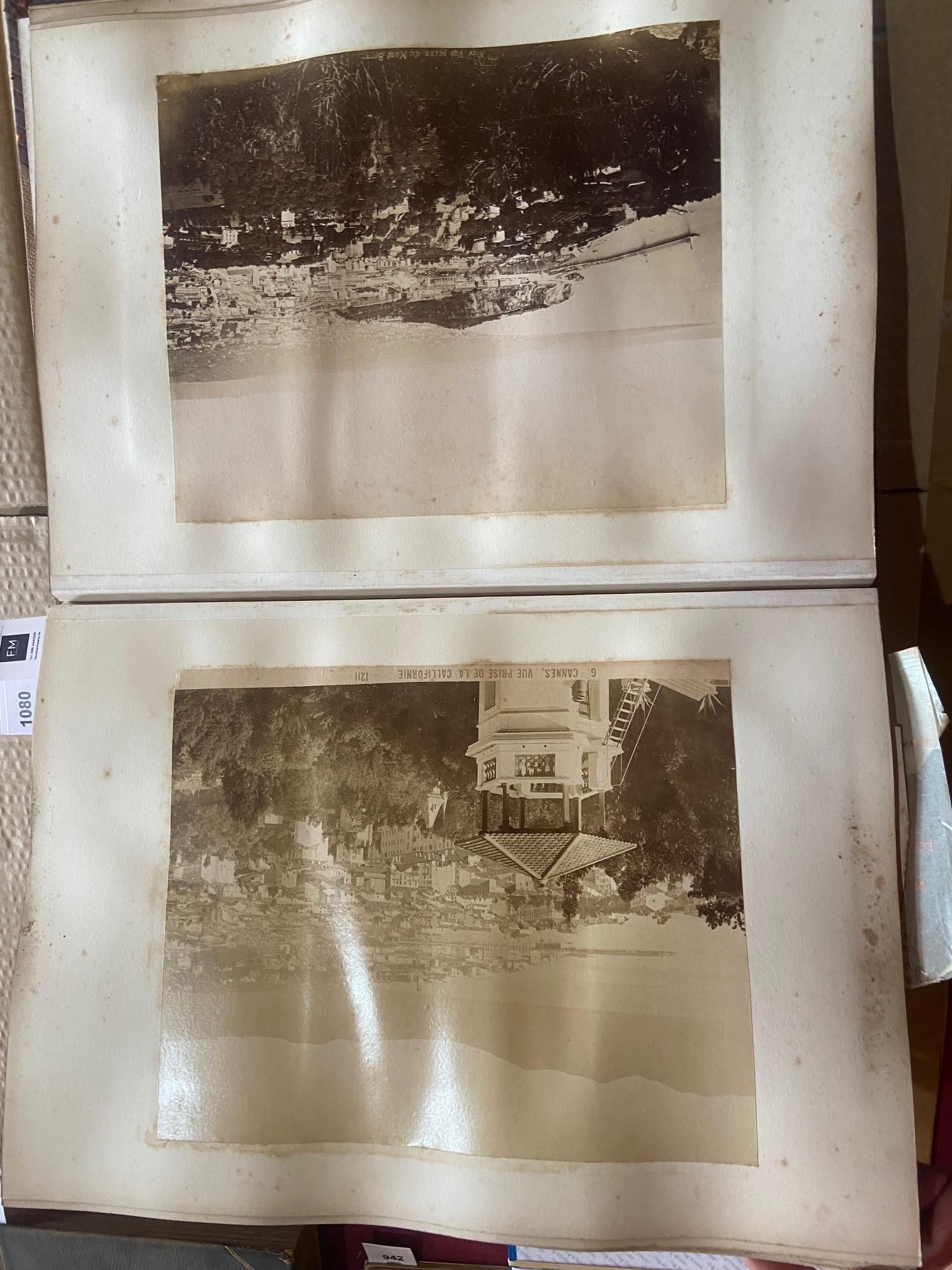 Photographs: Two large folio Albums of Photographs, each c. 1870 - 1890's. One Album contains - Image 28 of 31