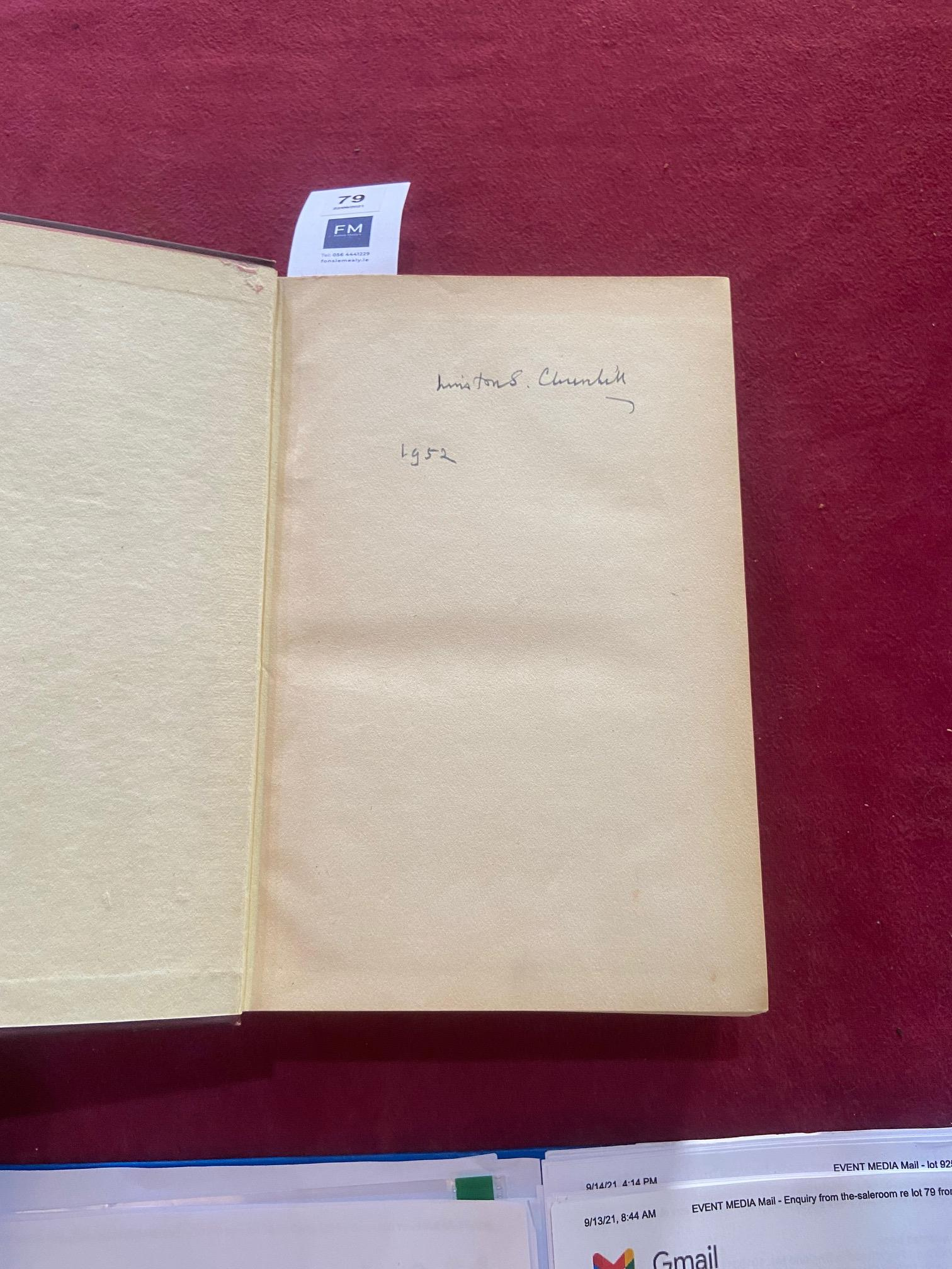 Signed by the Authorÿ Churchill (Winston S.)ÿTheir Finest Hour, Second World War, Vol. II only, - Image 10 of 22