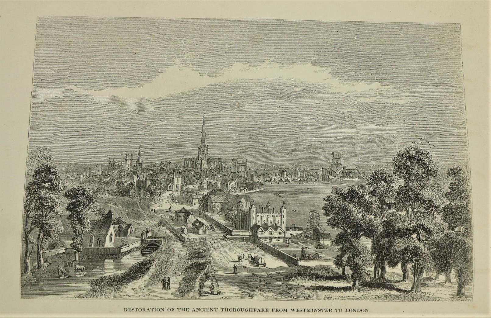 Knight (Chas.)ed.ÿLondon, 6 vols. sm. folio London 1841 - 1844. Illus. thro.-out, cont. hf. calf - Image 3 of 3