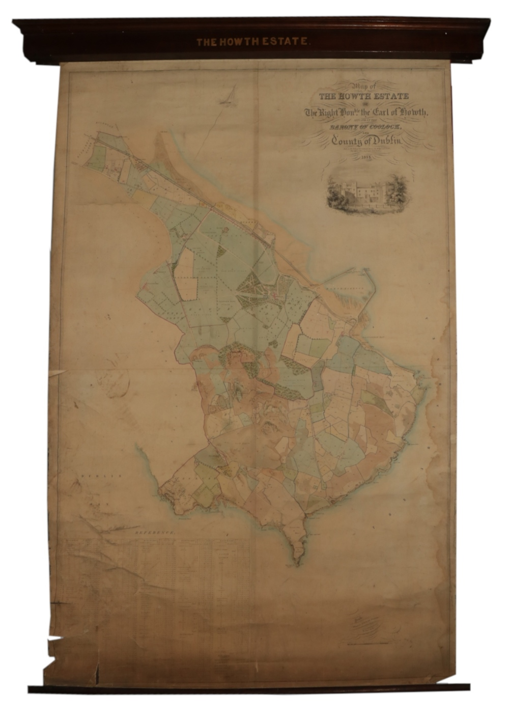 Irish Map: Map of the Howth Estate of the Right Honorable the Earl of Howth, situate in the