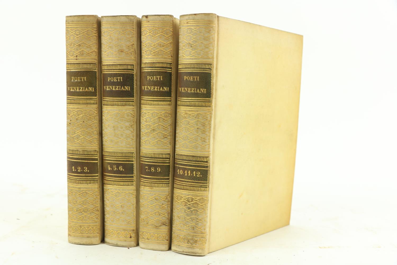 Lamberti -Poesie di Antonio Lamberti, 12 vols. in 4, 16mo Venice (..di Alvisopoli) 1817, hf.