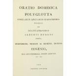 [A. Durer] - Stuntz (J.)ÿÿPratio Dominica Polyglotta, Singularum Linguarum Characteribus Expressa et