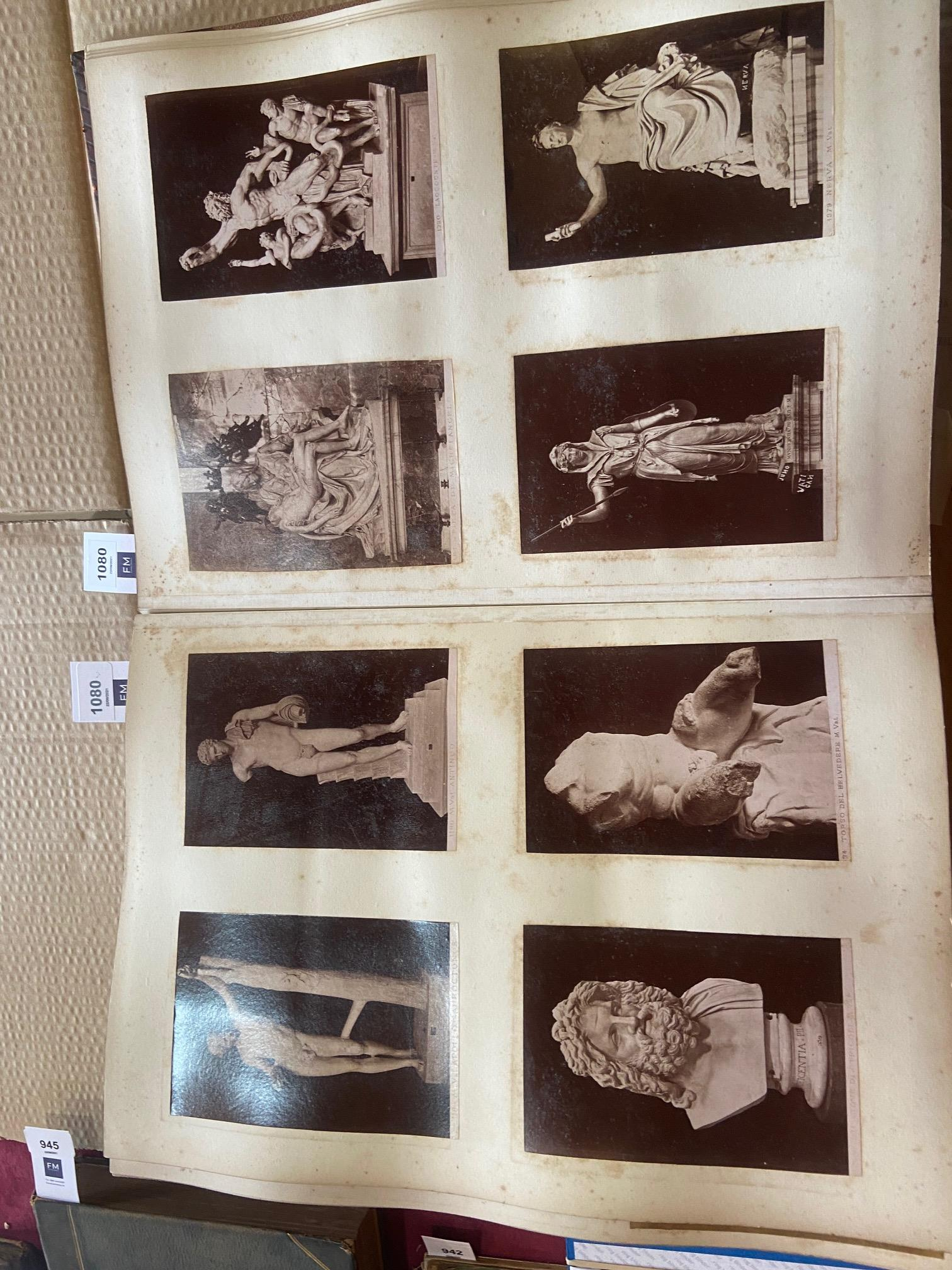 Photographs: Two large folio Albums of Photographs, each c. 1870 - 1890's. One Album contains - Image 30 of 31
