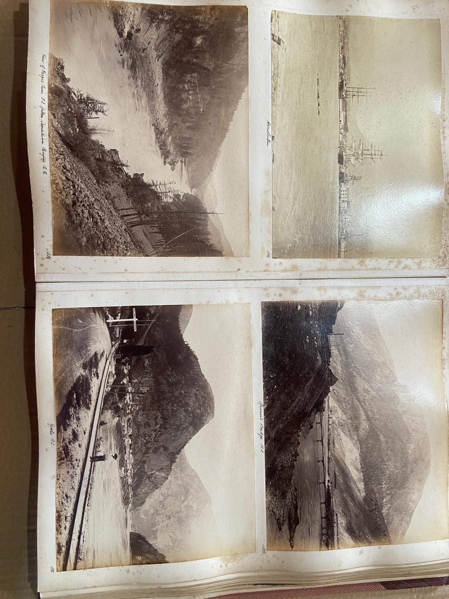 Photographs: Two large folio Albums of Photographs, each c. 1870 - 1890's. One Album contains - Image 13 of 31