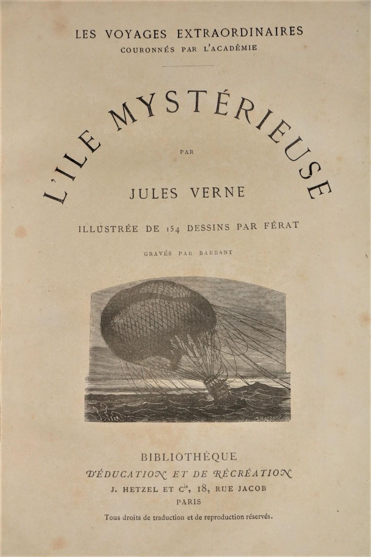 Verne (Jules)Cinq Semaines en Ballon, Voyage de Decouvertes en Afrique, Par Trois Anglais.Folio
