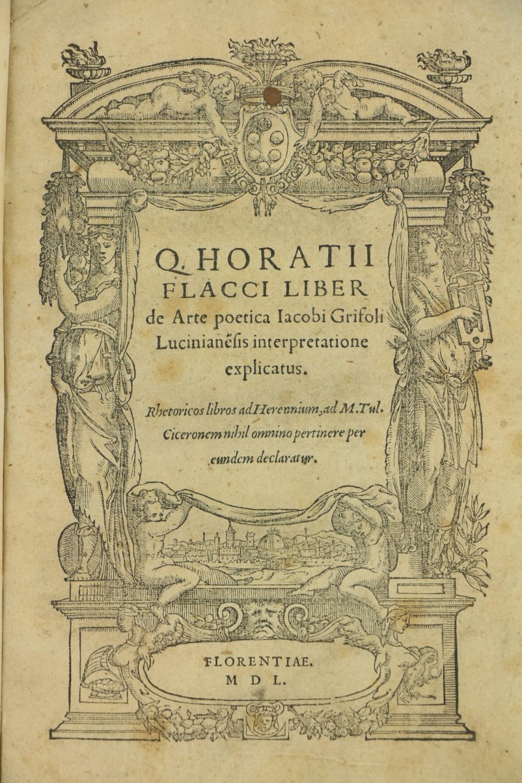 Horace -ÿÿQ Horatii Flacci Liber de Arte poetica Jacobi GTrifoli Lucinianesis interpretatione - Image 2 of 2